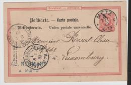 EL122 /  ELSASS -  Metz - Luxemburg 1889 (Mi.Nr. P 14) - Alsace-Lorraine