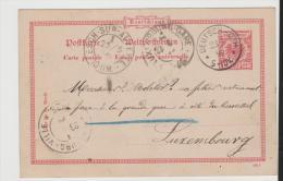 EL114 / ELSASS -  Deutsch . Oth 23.5. 1899 Via Esch Nach Luxemburg-Stadt - Alsace-Lorraine