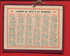 ALMANACH DES POSTES 1931 PETIT CALENDRIER CARTON EN BEL ETAT RECTO VERSO - Klein Formaat: 1921-40