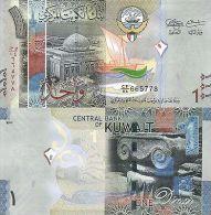 KUWAIT 1 DINAR 2014 PNEW UNC - Kuwait