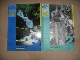 Rivista Delle Poste Svizzere -X- La LENTE  - Emissioni Dei Francobolli Del 1995 -N° 2 E 3 - In Italiano - Magazines
