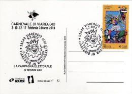 Italia 2013 Viareggio Carnevale Carnival Carnaval Cartolina B - Carnevale