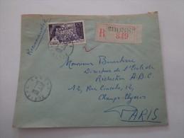 COURRIER RECOMMANDE LETTRE TUNISIE - Tunisia (1956-...)