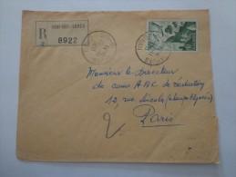 COURRIER RECOMMANDE LETTRE SIDI BEL ABBES ALGERIE - Algérie (1962-...)