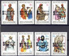 Rwanda - 690/697 - S�cheresse Solidarit� - 1975 - MNH