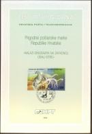 CROATIA  - HRVATSKA  -  DINOSAURUS - ISTRIA - 1994 - Preistorici