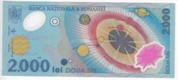 ROMANIA  - 1999  - 2000 LEI - PREFIX 009E - POLYMER ECLIPSE - UNC , Bancnote   ;  UNC - Romania