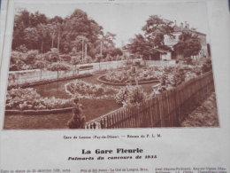 - Article - Régionnalisme - Gare De Lezoux - Gare De Cap D'Ail - Gare De Mirepoix -  Gares Fleuries - 2 Pages - 1936 - Documents Historiques