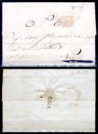 Vico (del Gargano)-00852 - Raro:piego Del 7 Dicembre 1853 Con Bollo Di Cancelleria Ripetuto Al Verso Come Sigillo. - Italia
