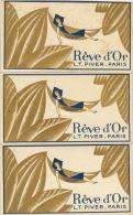3X Carte Parfumée Rêve D'or Parfum De Lt Piver - Antiquariat (bis 1960)