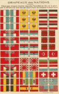 Drapeaux Des Nations - Découper Chaque Double Vignette - Un Seul Feuillet Souple - 2 Scans - Bon état - Oude Documenten