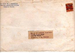 """Deux Enveloppes Timbrées De\"""" La Voix De L\´Amériqu\"""" NEW YORK (voir Scans) - United States"""