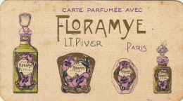 Carte Parfumée Floramye Parfum De Lt Piver Maison Hubert Hardy à Chimay Parfumerie La Plus Ancienne Du Pays - Antiquariat (bis 1960)