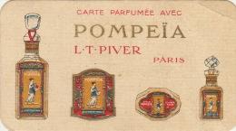 Carte Parfumée Pompeïa Parfum De Lt Piver Maison Hubert Hardy à Chimay Parfumerie La Plus Ancienne Du Pays - Cartes Parfumées