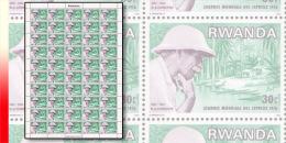 Rwanda 0714**  30c  Schweitzer journ�e des l�preux  - Feuille / Sheet de 50 MNH