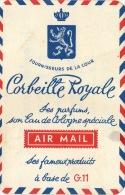 Carte Parfumée Corbeille Royale Air Mail Lietard Binche La Louvière - Antiquariat (bis 1960)