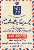 Carte Parfumée Corbeille Royale Air Mail Lietard Binche La Louvière - Perfume Cards