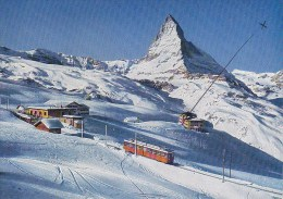 Switzerland Riffelberg Bei Zermatt - Bergbahn Bahn Station - Train 1972 - VS Valais