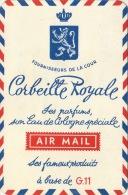 Carte Parfumée Corbeille Royale Par Avion - Antiquariat (bis 1960)