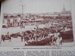 - Article - Régionnalisme - Marine Militaire à Saint Malo - Fusiliers Marin - Défilé - 2 Pages - 1937 - Documents Historiques