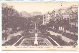 CPA MENTON - Le Jardin Public Et Le Casino Municipal - Menton