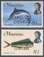 Mauritius. 1970 World Fair, Osaka. MH Complete Set. SG 413-414 - Mauritius (1968-...)