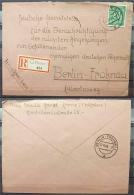 Kontrollrat Nr. 936 Auf R-Brief Blanco R-Zettel Mit Handstempel HERNE 1 - Berlin - American,British And Russian Zone