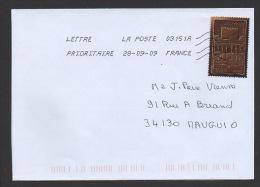 DF / SUR LETTRE / TP 4360 LE CHOCOLAT / SILHOUETTE DE L'ALHAMBRA A GRENADE (ESPAGNE) - Cartas