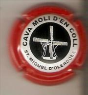 PLACA DE CAVA MOLI D´EN COLL CON UN MOLINO (MOULIN-MILL) RARA (CAPSULE) Viader:2409ET - Spumanti