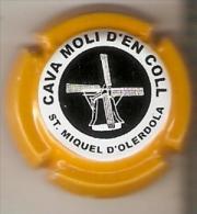 PLACA DE CAVA MOLI D´EN COLL CON UN MOLINO (MOULIN-MILL) RARA (CAPSULE) Viader:3040ET - Spumanti