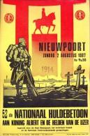 kleine affiche - Nieuwpoort 1987  - 52 ste huldebetoon koning Albert & helden IJzer 1914 -