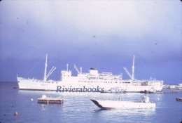 P63 - Navire base MAURIENNE A637 - Mururoa juillet 1968 - Diapositive photo