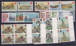 1975 - 1978 Isola Di Man SERIE VARIE 29v.: 49/50+10/1+48+43/46+51/54+102/104 + 108 (x4) MNH** - Isola Di Man