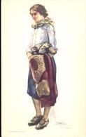 Folklore Klederdracht Costumes Portugueses - Sintra - Saloia  - Illustr. Alberto Souza 1937 - Costumes