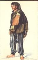 Folklore Klederdracht Costumes Portugueses - Nazaré - Pescador  - Illustr. Alberto Souza 1937 - Costumes