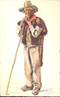 Folklore Klederdracht Costumes Portugueses - Alentejo - Pastor - Illustr. Alberto Souza 1937 - Costumes