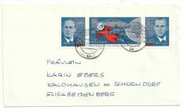 Deutschland DDR 1965 Michel 1138 1139 1140 Dreierstreifen Auf Brief Von Karl-Marx-Stadt Nach Waldhausen - DDR