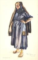 Folklore Klederdracht Costumes Portugueses - Nazaré - Peixeira  - Illustr. Alberto Souza 1937 - Costumes