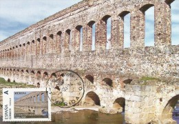 Spain Maxicard – España Tarjeta Máxima Con Sello Personalizado Del Acueducto De San Lázaro (medieval) De Mérida - Monumenti