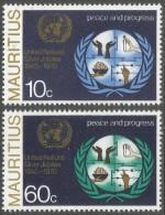 Mauritius. 1970 25th Anniv Of United Nations. MH Complete Set. SG 425-426 - Mauritius (1968-...)