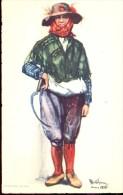 Folklore Klederdracht Costumes Portugueses - Alentejo Ceifeira - Illustr. Alberto Souza 1937 - Costumes