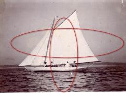 photo souvenir famille voilier c�te Atlantique ann�es 1900-10