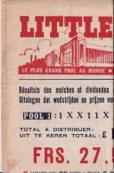 BELGIQUE :  1947.-1948:2 Feuilles:Résutats Des Pronostiques De Football:LITTLEWOODS - Srang´s. - Sports & Tourisme