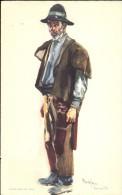Folklore Klederdracht Costumes Portugueses - Alentejo Campones Com Pelico E Safoes - Illustr. Alberto Souza 1937 - Costumes