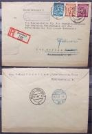 Kontrollrat Nr. 924 925 929 Auf R-Brief BIEDENKOPF LAND Eckelshausen- Auskunftstelle Ehem. Deutsche Wehrmacht - Gemeinschaftsausgaben