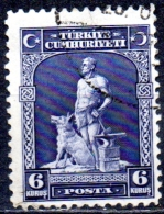 TURKEY 1929 Blacksmith & Grey Wolf -  6k. - Blue  FU - Used Stamps