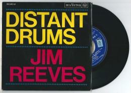 45 Tours JIM REEVES Distant Drums + 3. RCA Victor 86.540 De 1966 (Languette) - Zonder Classificatie
