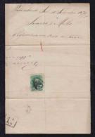 Brazil Brasil 1877 Cover Fragment PARAHYBA DO SUL To Rio De Janeiro - Briefe U. Dokumente