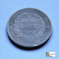 Martinique - 50 Céntimos  - 1897 - Colonias