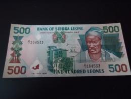 1998 SIERRA LEONE REPLACEMENT ( SERIE: Z/1 ) RARE 500 LEONES ( P 23 ) - UNC - - Sierra Leone